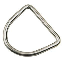 STAINLESS STEEL D RING 3/16INX1-3/4IN