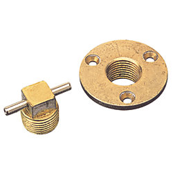 BRONZE GARBOARD DRAIN W/SS T-HANDLE