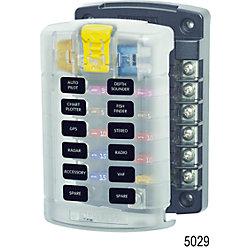 12-32V ST FUSE BLOCK 12 CIRCUIT W/LID