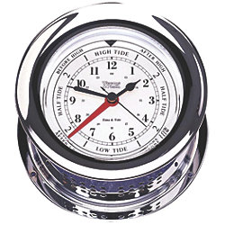 TIME & TIDE CLOCK CHROME ATLANTIS