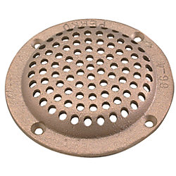 4IN BRZ RND STRAINER