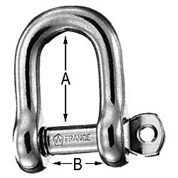 LOOSE PIN D SHACKLE 1/4IN