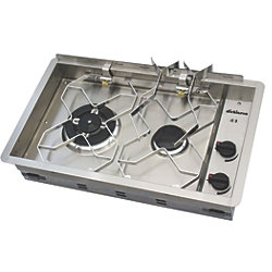 2-B PROPANE SS DROP-IN STOVE TOP