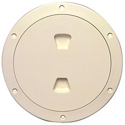 6IN BEIGE SCREW-OUT DECK PLATE
