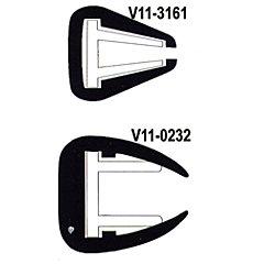 1-3/8IN WHITE FLEXIBLE RUB RAIL 100FT