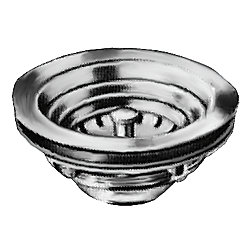 SINK STRAINER 3.5IN DRAIN NO TAIL PC