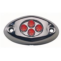 CHROME SURFACE LIGHT 4 RED LED