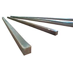 1/4IN X 2-1/8IN BRASS KEY STOCK