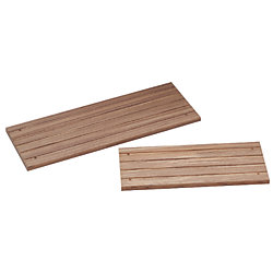 DECK STEP, LARGE  TEAK 15INX6INX1/2IN