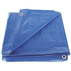 8FT X 10FT BLUE POLY TARP