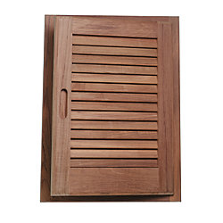 LOUVERED DOOR & FRAME (LEFT HAND)