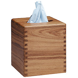 TISSUE BOX COVER, TEAK