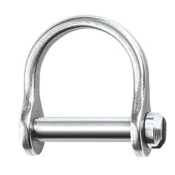 1/8IN WIDE D SHACKLE W/SLOTTED PIN