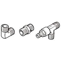 CONNECTOR 3/8IN TUBE TO 3/8IN NPT (3)