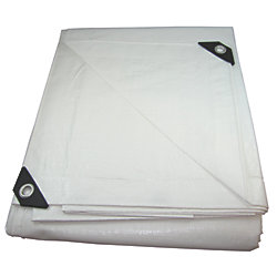 12FT X 16FT WHITE HEAVY POLY TARP