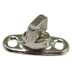 NICKEL BRS CURTAIN FASTENER EYELET (100)