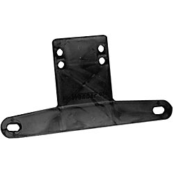 BLACK PLASTIC LICENSE PLATE BRACKET