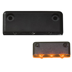 BLACK SURFACE LIGHT 3 AMBER LED