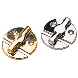 CHROME PLATED BRASS DOOR BUTTON