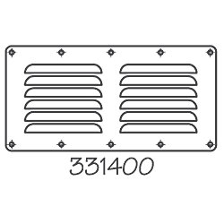 STAINLESS LOUVERED VENT 91/8INX45/8IN
