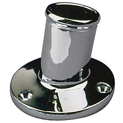 CHROME BRASS POLE SOCKET, 1IN