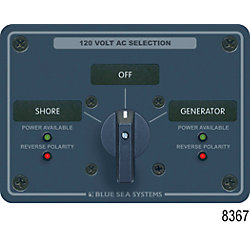120V 30A 2 POLE 2 SOURCE SWITCH PANEL