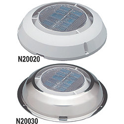 3IN WHT POLY SOLAR MINI VENT