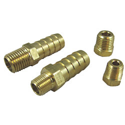 BRASS MALE BARBED FITTING