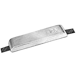 ALU PLATE W/STEEL STRAPS 3X12X1-1/4IN