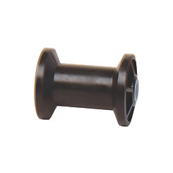 4IN BLK SPOOL TYPE KEEL ROLLER