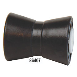 5IN BLK CENTER GUIDED KEEL ROLLER