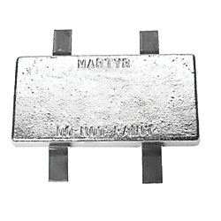 ZINC WELD-ON ANODE 4X20X2IN