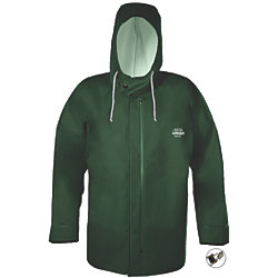 HOODED F/W JACKET GREEN MED W/CUFF