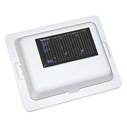 SOLAR POWERED FAN AIR VENT WHITE