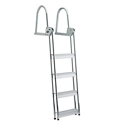 ALU 4 STEP FLIP UP DOCK/RAFT LADDER