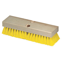 POLY DECK BRUSH10X3 TAPER/THRD HOLE
