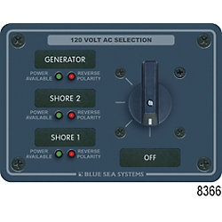 120V 30A 2 POLE 3 SOURCE SWITCH PANEL