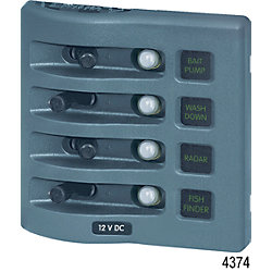 12/24V GRY WEATHERDECK PANEL 4 POS