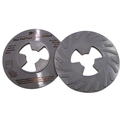 5IN GRAY MED RIBBED DISC PAD FACE PLATE