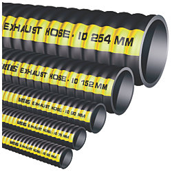 RUBBER EXHAUST HOSE 4IN 102MM
