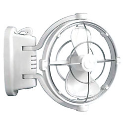 SIROCCO GIMBAL FAN 12V WHITE