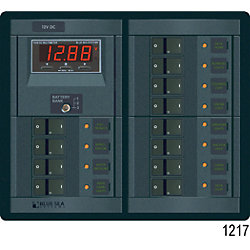 12V 360 ROCKER PANEL 12 POS MULTIMETER