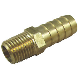 1/4IN NPT BRASS BARBED FITTING