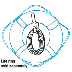 Heaving Lines with Life Buoy Bracket