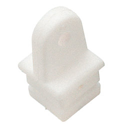1IN NYLON SQUARE TUBE TOP INSERT WHT