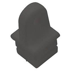 NYLON SQR TUBE TOP INSERT BLK 1IN PR