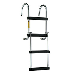 4 STEP REMOVE FOLDING PONTOON LADDER
