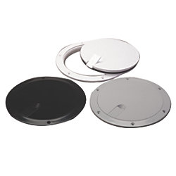 ABS DECK PLATE WHITE/CLR POPOUT 6IN