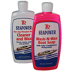 Boat Soap and Wax Kit for Fiberglass