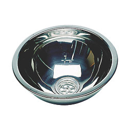 ROUND SS SINK MIRROR 10.6INX 4.7IN